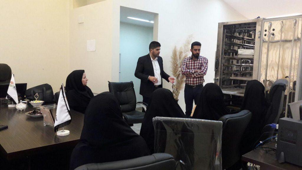 بازدید کارآموزان فنی و حرفه ای اصفهان از رویشگر
